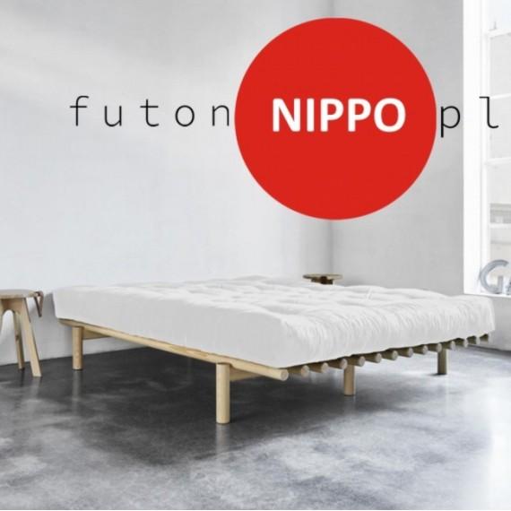 Futon NIPPO średniotwardy, naturalny z wełny, 140x200