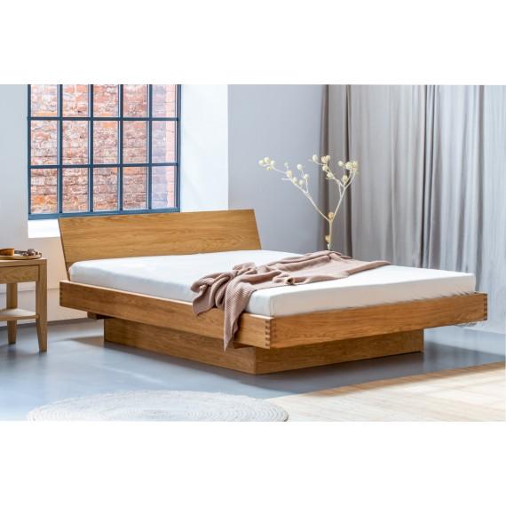 Łóżko dębowe z pojemnikiem MILANO 140x200