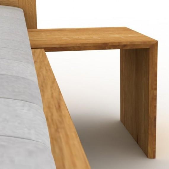 Stolik nocny L-form bez szuflady olchowy lub dębowy