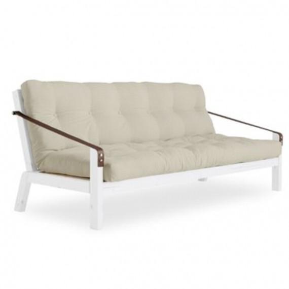 Sofa POETRY z ramą białą, sosnową