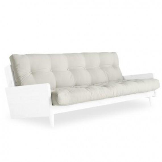 Sofa INDIE z ramą białą, sosnową