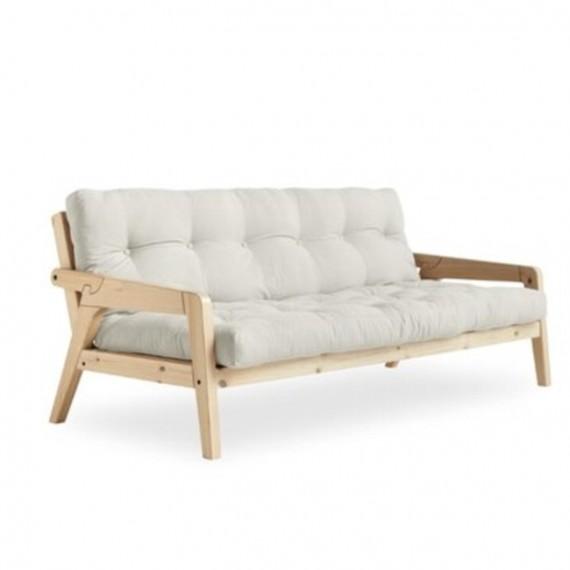 Sofa rozkładana GRAB naturalna 130x190 Karup Design
