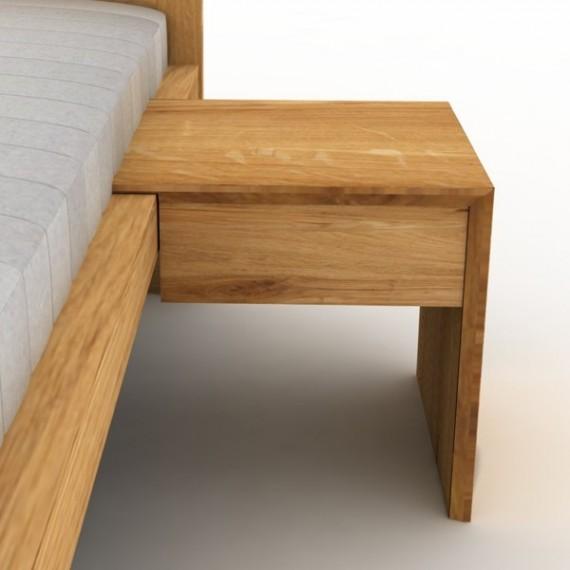 Stolik nocny L-form z szufladką olchowy lub dębowy