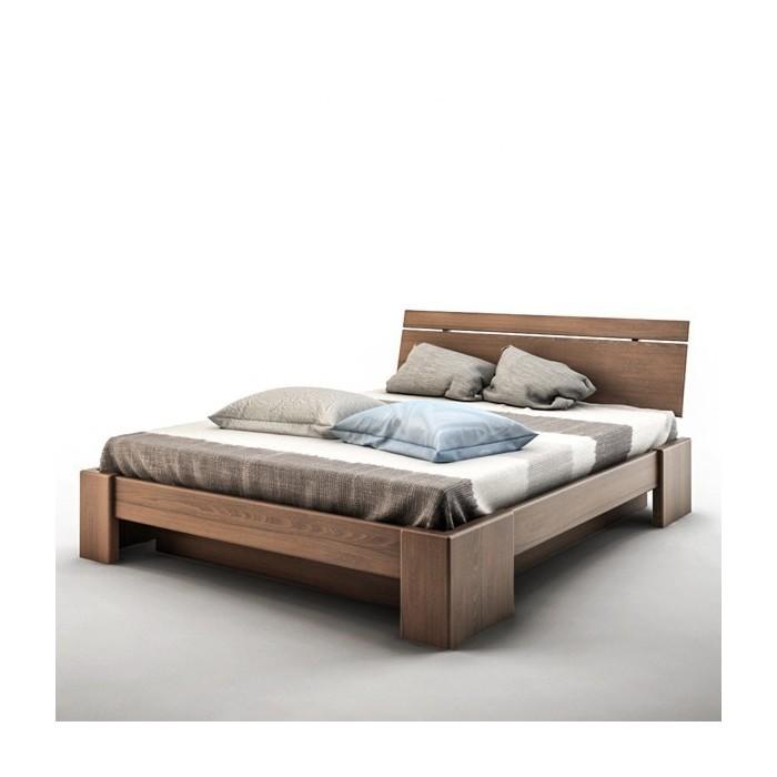 Łóżko bukowe 180x200 z pojemnikiem na pościel BOHO P