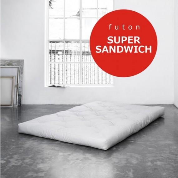 Futon Super Sandwich- twardy, przewiewny i sprężysty futon 200x200