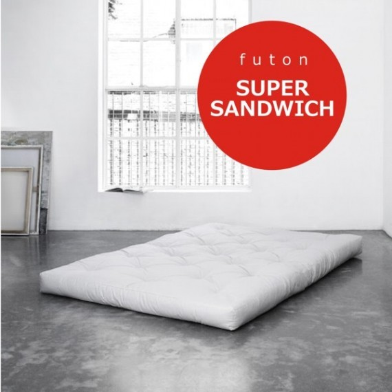 Futon Super Sandwich- twardy, przewiewny i sprężysty futon 100x200