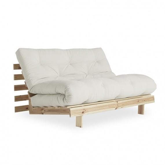 Sofa ROOTS 140 z naturalną ramą sosnową