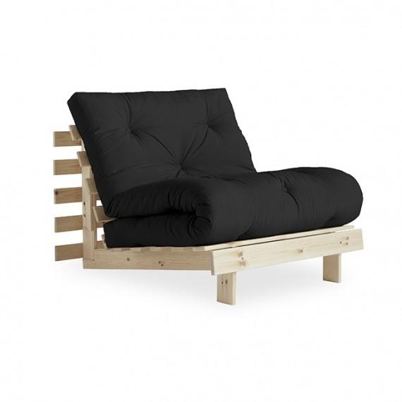Sofa ROOTS 90 z naturalną ramą sosnową