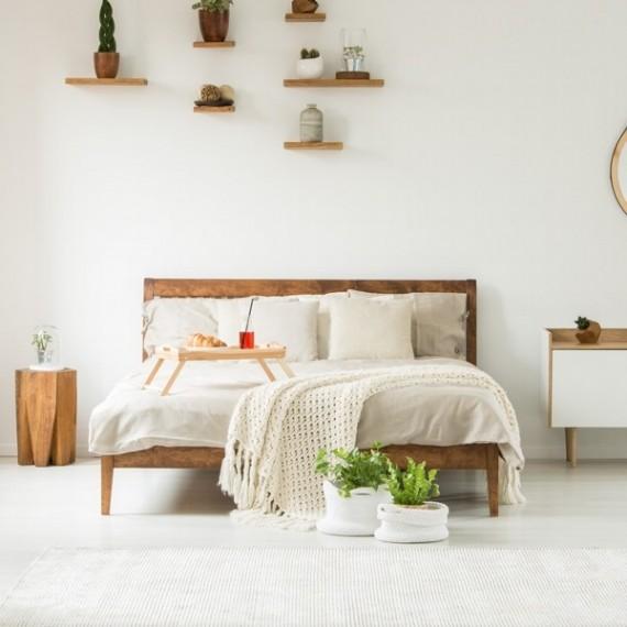 Łóżko olchowe z pojemnikiem SOFIA 140x200