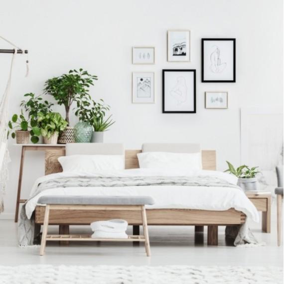 Łóżko dębowe z pojemnikiem MILANO 160x200