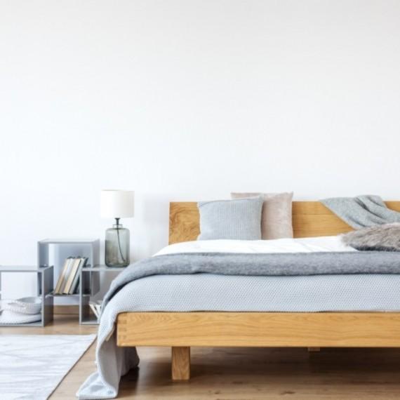 Łóżko olchowe z pojemnikiem MILANO 160x200