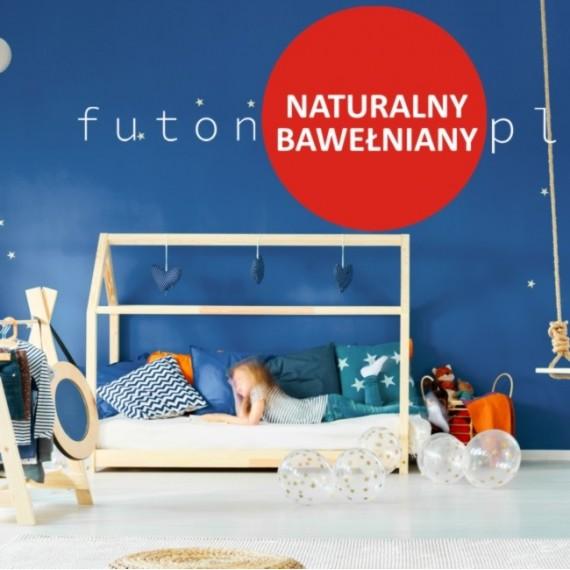Futon naturalny, bawełniany dla dzieci - średniotwardy, niesprężysty