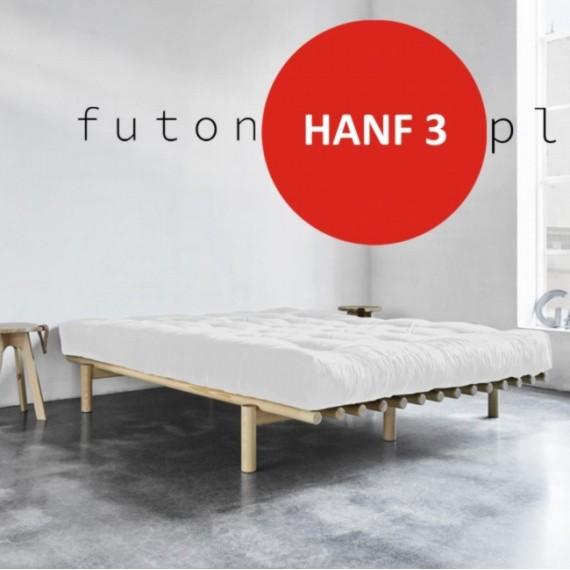 Futon HANF 3 twardy, sprężysty z konopiami 160x200